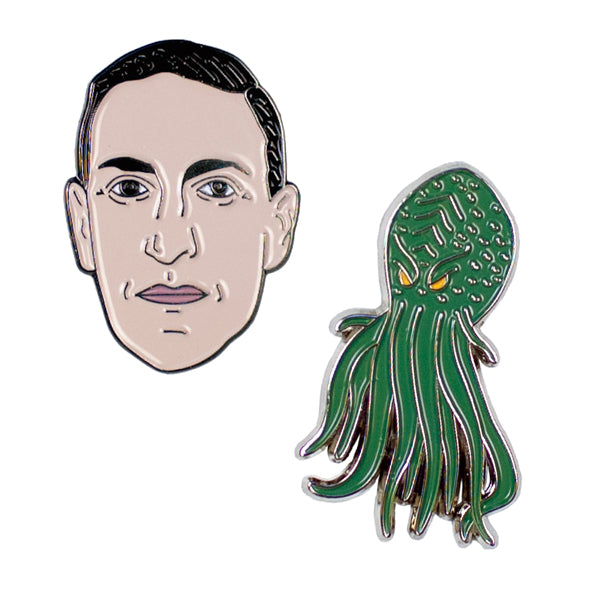 H. P. Lovecraft Enamel Pin Set