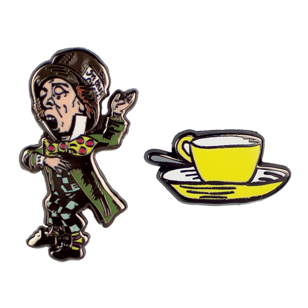 Mad Hatter Enamel Pin Set