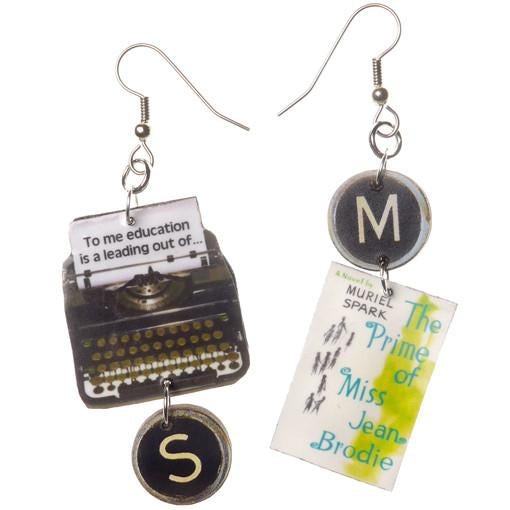 Prime of Miss Jean Brodie Typewriter Earrings