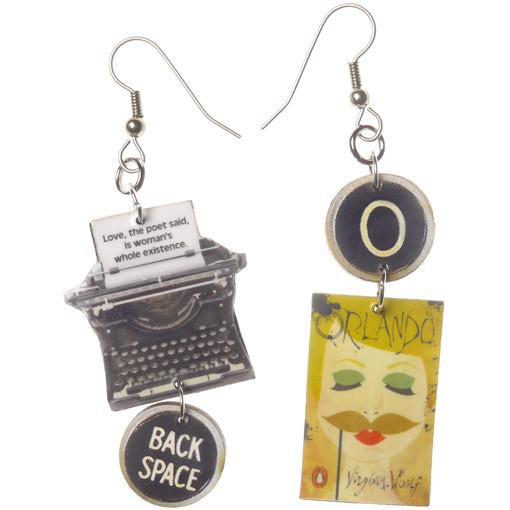Orlando Typewriter Earrings