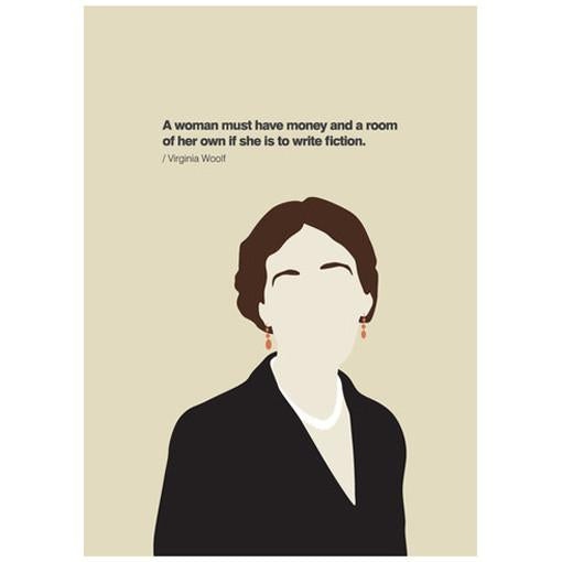 A Room of One's Own - Virginia Woolf Card