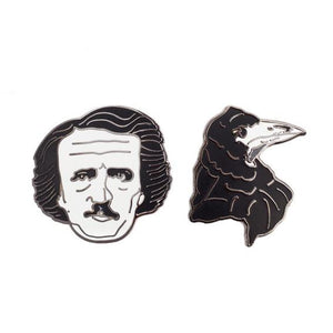 Edgar Allan Poe Enamel Pin Set