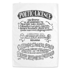 Poetic Licence Dish Towel