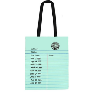 Library Card Mint Cotton Tote Bag