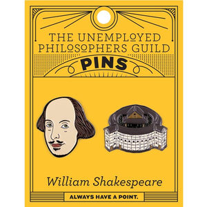 William Shakespeare Enamel Pin Set