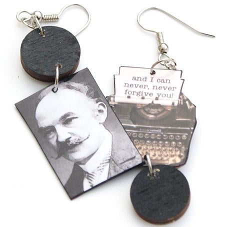 Tess of the D'Urbervilles Typewriter Earrings