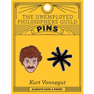 Kurt Vonnegut Enamel Pin Set