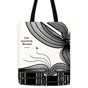 Jane Austen 'Excessively Diverted' Tote Bag