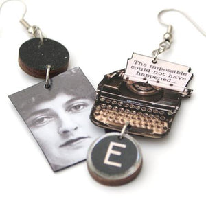 Agatha Christie Typewriter Earrings