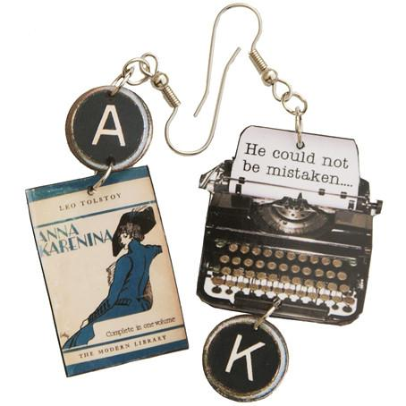 Anna Karenina Typewriter Earrings