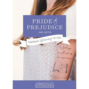 Austen's Pride and Prejudice Temporary Tattoos