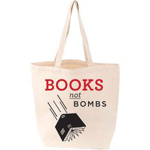 Books Not Bombs Canvas Tote Bag