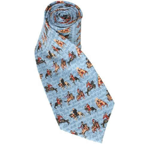 Chaucer Canterbury Tales Tie - Blue