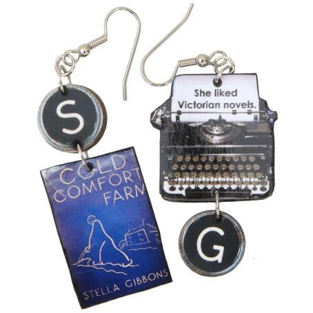 Cold Comfort Farm Typewriter Earrings