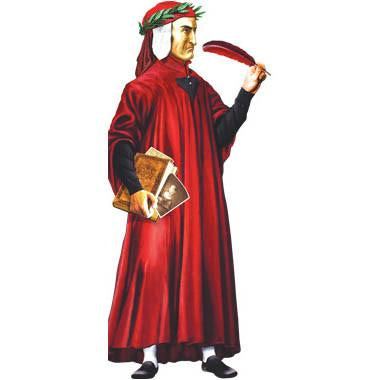 Dante Alighieri Shaped Card