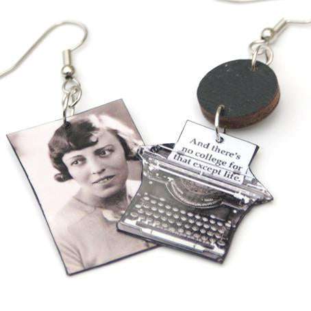 I Capture the Castle Typewriter Earrings