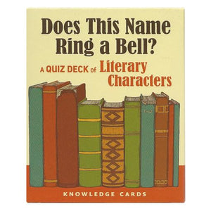Does This Name Ring a Bell? Literary Characters Quiz Deck