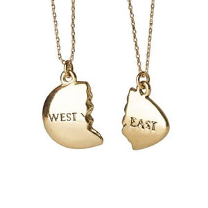 East and West Egg Bestie Necklace - The Great Gatsby