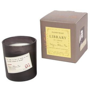 Edgar Allan Poe Library Candle