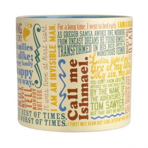 First Lines in Literature Mug