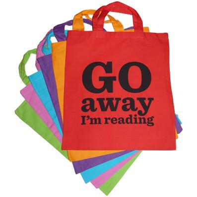 Go Away I'm Reading Bag
