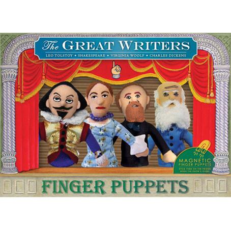 Great Writers Finger Puppet Set