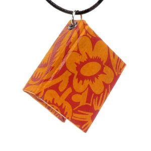 Bookbound Necklace - Orange
