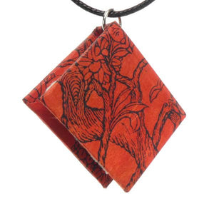 Bookbound Necklace - Red