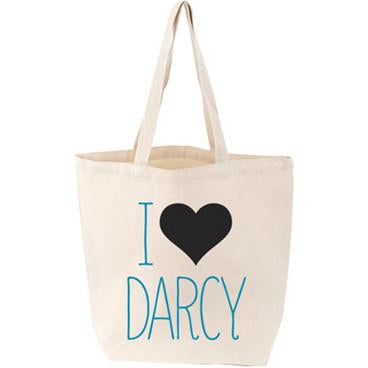 I Love Darcy Canvas Tote Bag