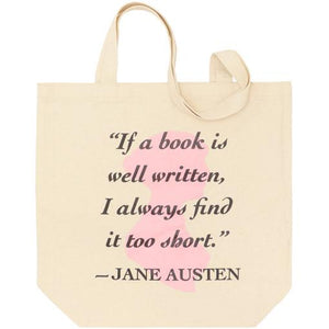 Jane Austen Quotation Tote Bag