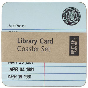 Library Card Coasters