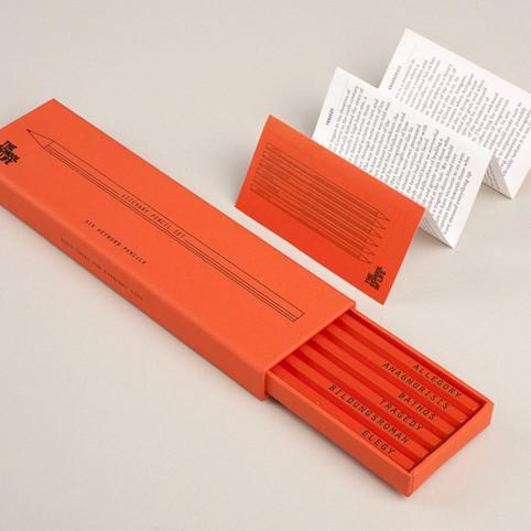 Literary Keyword Pencil Set