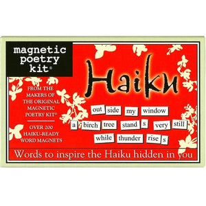 Magnetic Poetry - Haiku Edition