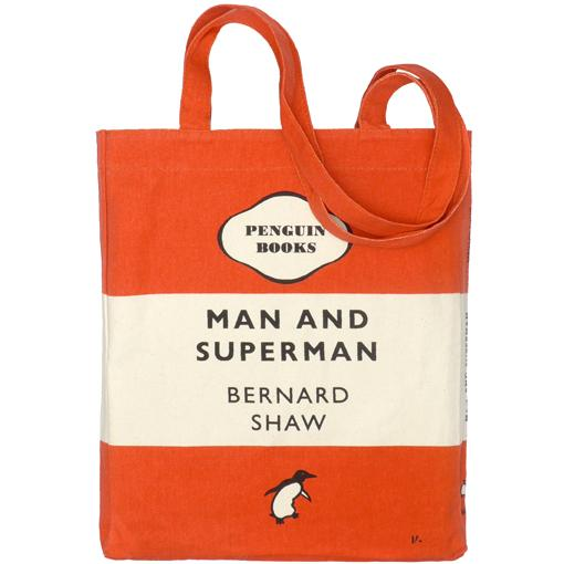 Man and Superman Penguin Tote Bag