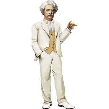 Mark Twain Shaped Card