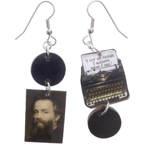 Moby Dick Typewriter Earrings