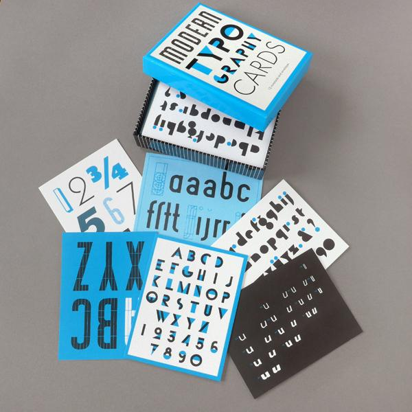 Modern Typography Notecards