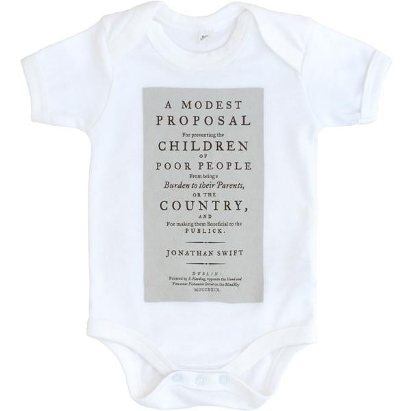 A Modest Proposal Onesie