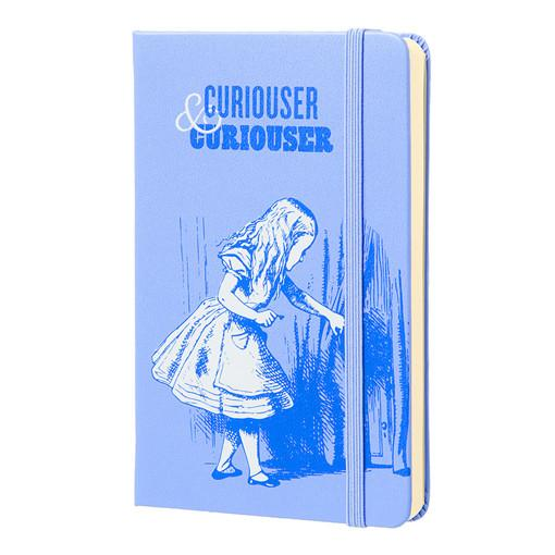 Alice In Wonderland Moleskine Notebook - Curiouser & Curiouser