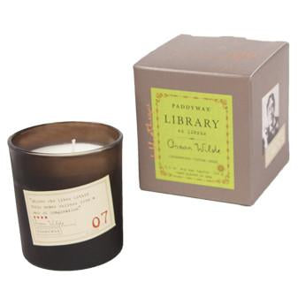 Oscar Wilde Library Candle