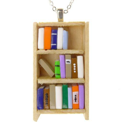 Pine Bookcase Necklace