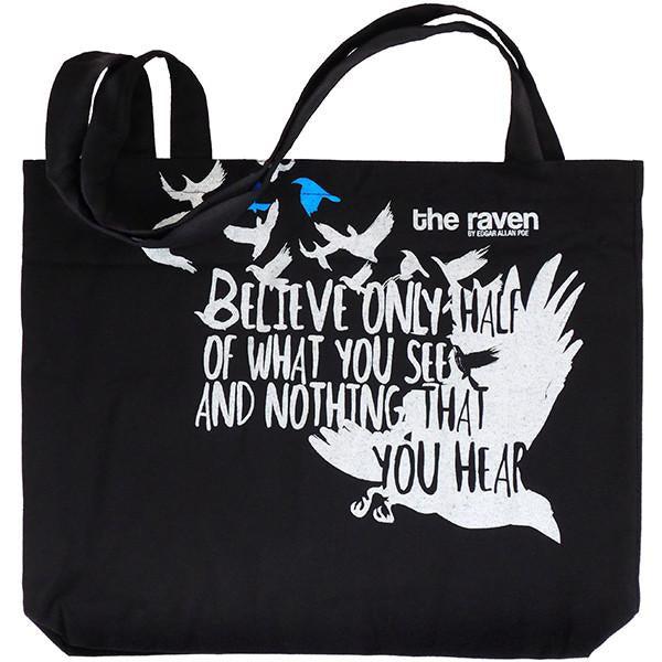 94dd4ad79f Edgar Allan Poe Tote Bag - The Literary Gift Company US