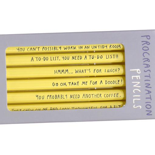 Procrastination Pencils