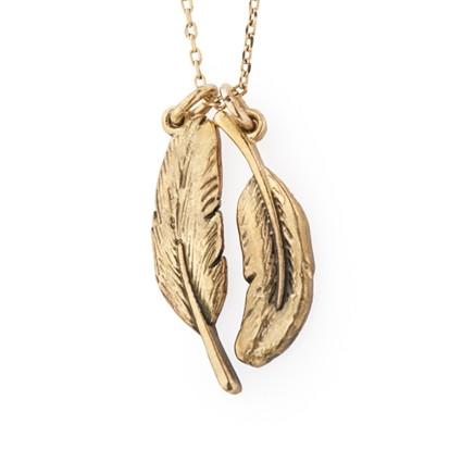 Scout & Boo Feather Necklace - To Kill a Mockingbird