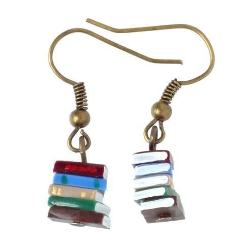 Stack of Books Earrings