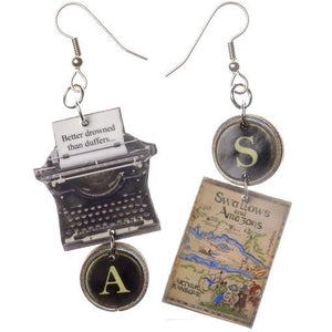 Swallows and Amazons Typewriter Earrings