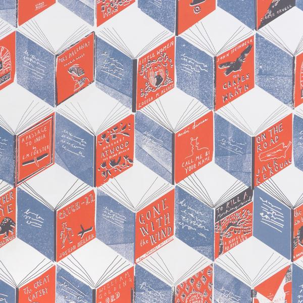 Isometric Books Wrapping Paper