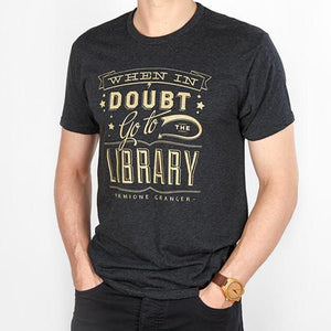 'When In Doubt Go To The Library' Unisex T-Shirt