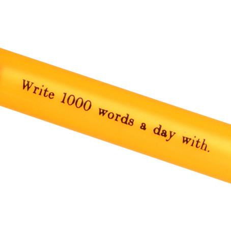 Write 1000 Words A Day With Pen