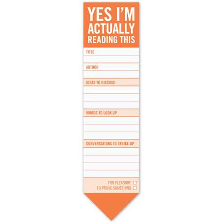 Yes I'm Actually Reading This Bookmark Pad